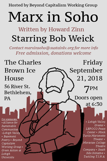 Marx in Soho, starring Bob Weick @ The Charles Brown Ice House